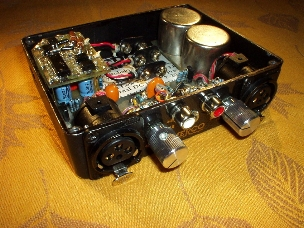 A photo of the MP-2 preamp with the top